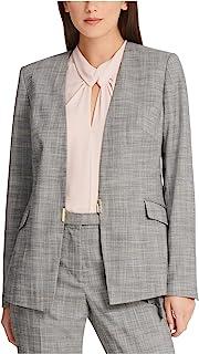 DKNY 女式灰色格子西装外套 尺码 12
