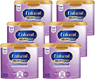 Mead Johnson 美赞臣 Enfamil NeuroPro Gentlease婴儿温和奶粉 可重复使用的奶粉罐,0-12个月/-MFGM,Omega 3 DHA,铁(包装可能有所不同),19.5盎司/约552.82克