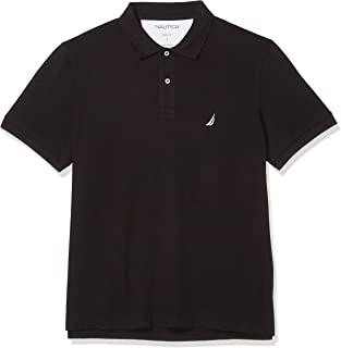 NAUTICA 男士棉质珠地布纯色短袖Polo衫