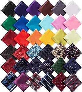 36 件口袋方形手帕柔软彩色手帕男式派对婚礼
