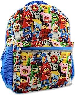 Lego 迷你数字男孩女孩 16 英寸学校背包 Lego Minifigures 均码