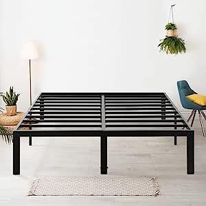 Olee Sleep 45.72 cm 高重型钢板条床架 T-3000