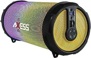 "AXESS SPBL1044RD Vibrant Plus 黑色 HiFi 蓝牙音箱带 Disco LED 灯红色SPBL1044YL 3"""