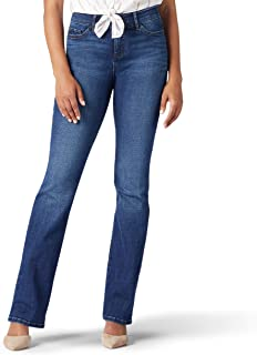 Lee 女士弹性运动常规修身喇叭牛仔裤 Cascade 6 Short