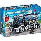 Playmobil 摩比世界 城市行动 SEK玩具卡车 9360 带有灯光和声音效果,适用于5岁以上儿童