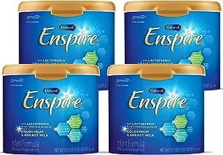 Enfamil Enspire 美赞臣 蓝臻1段 (0-12个月) 婴儿奶粉 581g/罐4罐装(含乳铁蛋白, MFGM乳脂膜球+DHA, 双重益生元)