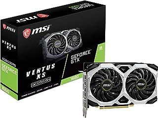 MSI 微星 GeForce GTX 1660 192 位 HDMI / DP 6GB GDRR5 HDCP 支持 DirectX 12 双风扇 VR Ready OC显卡(GTX 1660 VENTUS XS 6G OC)