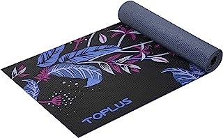 TOPLUS 瑜伽垫 – 经典 1/4 英寸(约 0.6 厘米)厚专业瑜伽垫 环保防滑健身运动垫 带背带 – 健身垫 适用于瑜伽、普拉提和地板锻炼