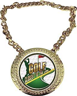 Express Medals Golf Closest to The Line 冠军链*杯中心牌匾,尺寸为 15.24 x 13.32 厘米,包括一条 86.26 厘米链子和黑色天鹅绒礼品袋。