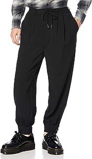SAGISON 休闲裤 T/R/PU 弹力下摆带袖哈伦裤 男士 BLACK 中号