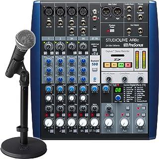 Presonus StudioLive AR8c 8频道 USB-C对应音频接口/模拟混音器/立体声SD录音机(StudioLive AR8c与SM58捆绑)