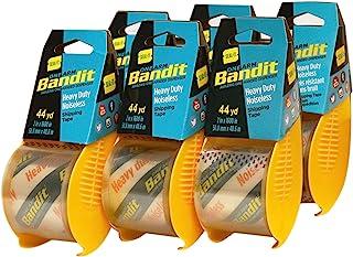 Seal-It Bandit 运输胶带 2 英寸 x 1600 英寸,每包 6 个 9,600 英寸,无噪声,一个手臂分配器
