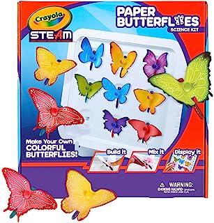 Crayola 纸蝴蝶科学套装,蒸汽玩具,7 岁、8 岁、9 岁、10 岁的儿童礼品