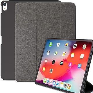 KHOMO iPad Pro 12.9 英寸保护套*三代(2018年上市)- 双斜纹灰色超薄保护套,橡胶背部和智能功能