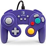 PowerA GameCube风格控制手柄,有线,官方许可,任天堂明星大乱斗,紫色