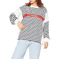 MILKFEDT T恤 STRIPED SIDE SLIT PANELED BIG TOP 女士