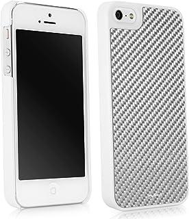BoxWave iPhone 5s 手机壳,【真正的碳纤维极简手机壳】超坚固硬壳保护套,适用于 Apple iPhone 5s,5 - 冬季白色
