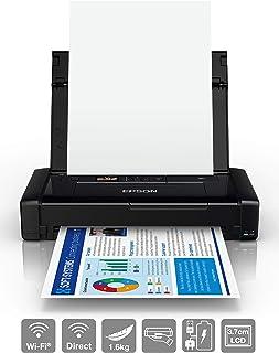 Epson 爱普生 WorkForce 系列 WF-110W 便携式 A4 喷墨打印机 黑色