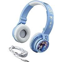 eKids 迪士尼冰雪奇缘2 带有麦克风的无线蓝牙便携式儿童耳机,Anna和Elsa,减小音量以保护听力,Disney…