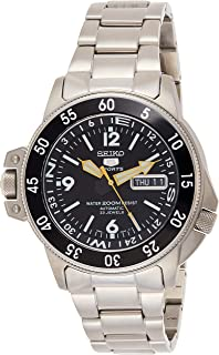 Seiko 男士 SKZ211K1 五运动不锈钢自动手表