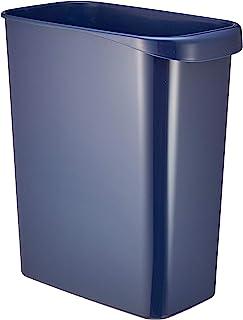 """丽丝 """"*适合办公室的简约垃圾桶"""" W&W 装卸 方形 深蓝色 12L KKZ1802"""