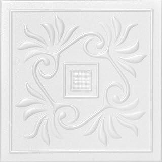 A la Maison Ceilings R159 Cockatoos 泡沫胶合天花板瓷砖(128 平方英尺/箱),48 件装,纯白色