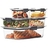 Rubbermaid 10 Piece Brilliance Food Storage Container, Clear