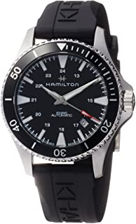 Hamilton Khaki *蓝自动黑色表盘男式手表 H82335331