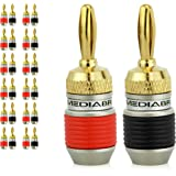 Mediabridge Banana Plugs - Corrosion-Resistant 24K Gold-Plat…