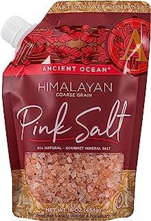 SaltWorks 古代海洋喜马拉雅粉红盐,粗制,工匠倾倒袋,16盎司/454克