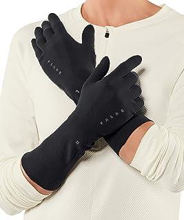 FALKE 中性款轻质手套 - 运动性能面料,黑色或*蓝,尺码 S-XL,1 件 - 男女适用,反光细节,在温和至寒冷的温度下提供保护