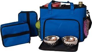 ARMARKAT 型号 CL101B 狗旅行包带食品背带,餐具垫,Overland Dog Gear Week 旅行包