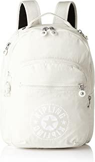 Kipling 凯浦林 Clas Seoul 通用学生书包 双肩包,White (Lively White),45 cm