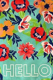 Briarwood Lane Hello Floral Spring Burlap House Flag 双面 71.12 cm x 101.60 cm