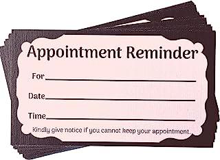 粉色预约提醒卡(3.5 英寸 X 2 英寸,100 张)发型师、沙龙、美发师、*师、睫毛延长技术人员、睫毛护理