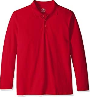 Classroom School Uniforms 男孩成人中性款长袖珠地布 Polo 衫
