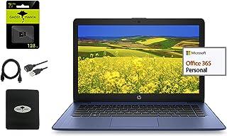 HP 惠普 2021 *新 Stream 14 英寸高清轻质笔记本电脑,Intel Celeron 英特尔赛扬 N4000(高达 2.6GHz),4GB 内存,64GB 存储,1 年办公 365,长达 11 小时,HDMI,带Ghost Man...