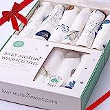 Bamboo 棉布婴儿浴巾   *棉面巾   婴儿湿巾   新生儿和敏感肌肤的柔软浴巾   婴儿注册送礼佳品   6 件…