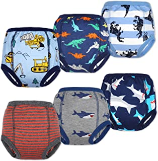 MooMoo 婴儿棉质训练裤强吸水幼儿如厕训练内衣适合女婴和男孩 2T-6T