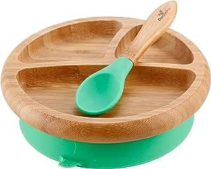 智能 Start Avanchy 强力 アヴァンシー 防打翻竹盘吸盘、带勺子 绿色