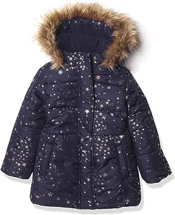 Nautica 诺帝卡女童重量夹克,带可拆卸兜帽