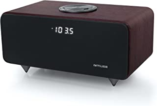 Muse M-620 DWT 蓝牙音箱 带收音机和木质外壳 (PLL 调谐器 NFC USB) 棕色