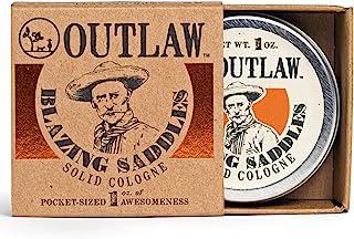 Blazing Saddles Solid Cologne – 性感的古龙香 – 28.35 克 – 西部皮革、枪粉、檀香和鼠尾草,装在口袋大小的锡中 – 男式或女式 Cologne