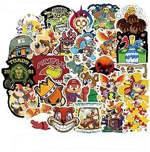 YOUTHSTORE Banjo Kazooie:螺母和螺栓游戏贴纸适用于笔记本电脑水瓶行李单板自行车滑板贴花儿童青少年成人防水美学贴纸(Banjo Kazooie)