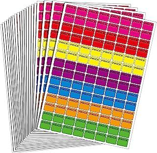 2240 片霓虹色预定车库销售贴纸价格标签销售标签院子销售贴纸,多色