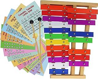 20 个音符镀铬钟琴 - 金属木琴 - 乐谱卡带歌曲