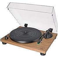 Audio Technica 铁三角 AT-LPW40WN 手动皮带驱动转盘,2速,动态防溜冰控制,碳纤维音色,胡桃木