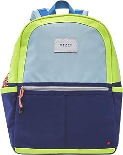 STATE Kane 儿童背包,*蓝/霓虹色涤纶帆布