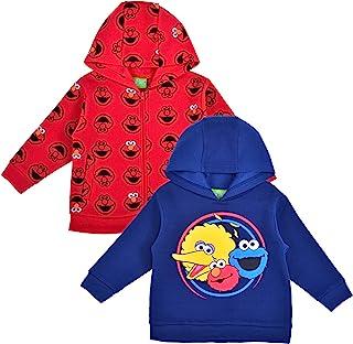 Sesame Street 男孩 2 件套拉链连帽衫和连帽运动衫套装