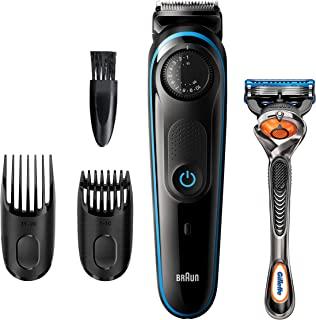 BRAUN 博朗 胡须修剪器 BT3240,男士理发器,无绳和可充电,带有 Gillette ProGlide 剃须刀